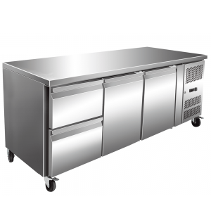 Three Door Refrigerated Table