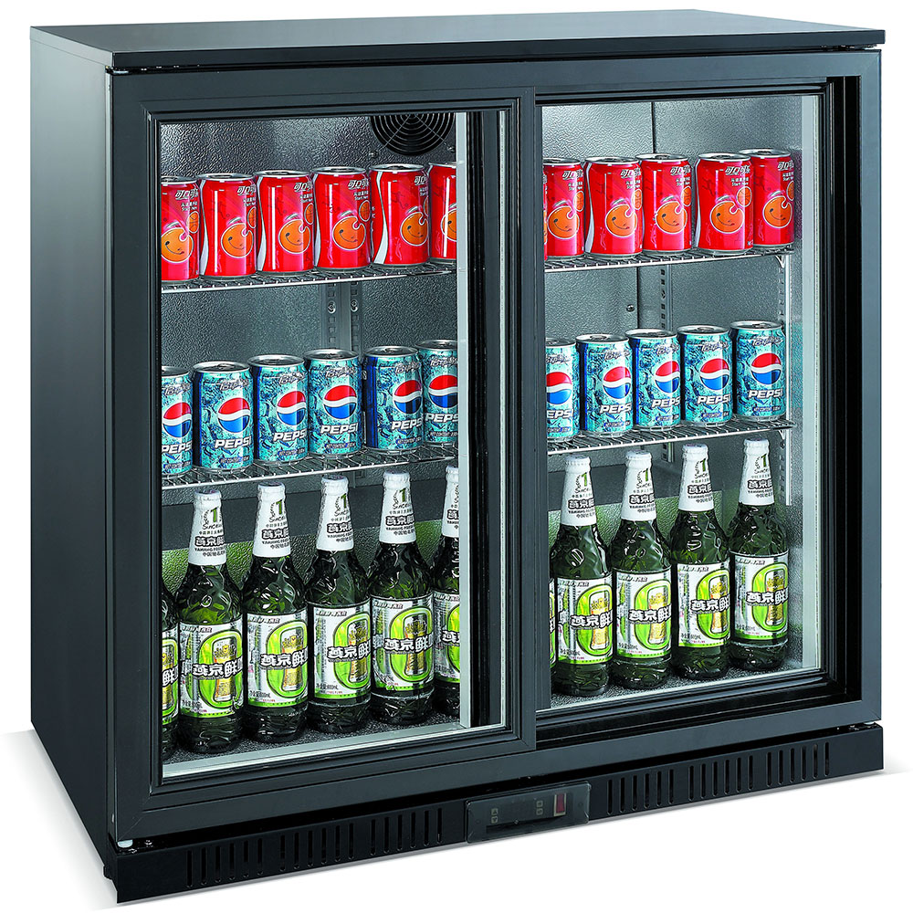 Unitech BC20SBE Sliding Door Back Bar Fridge