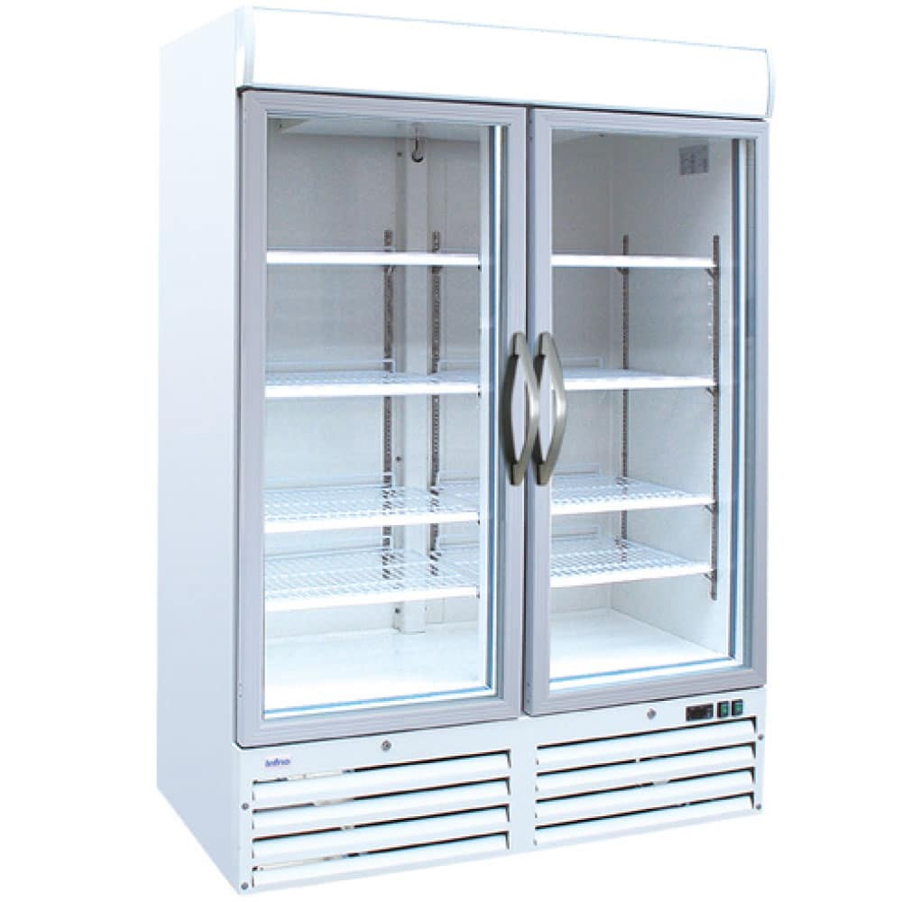 Unitech NF5000G Double Glass Door Display Freezer