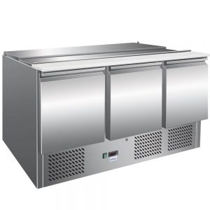 Unitech SA54TN Stainless Steel 3 door Refrigerated Counter