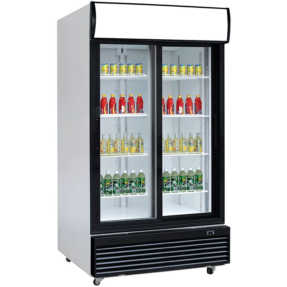 Unitech SLDG1200 Double Sliding Door Display Fridge