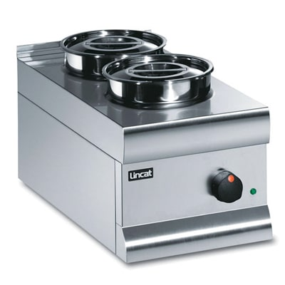 Lincat Bain Marie Dry heat - Stainless Steel Round Pots
