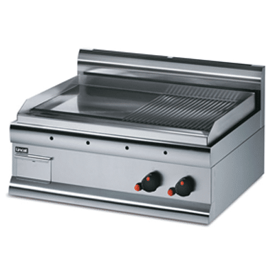 Griddle Steel Plate - Half-Ribbed - Dual Zone